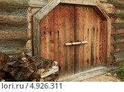 Ворота, музей деревянного зодчества, Вологда, Семенково (2013 год). Редакционное фото, фотограф Наталия Жолобова / Фотобанк Лори