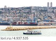 Порт города Хайфа, Израиль (2013 год). Редакционное фото, фотограф Наталия Пылаева / Фотобанк Лори