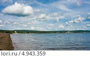 Озеро в Сибири, таймлапс. Стоковое видео, видеограф Евгений / Фотобанк Лори
