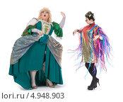 Купить «Два актера травести в женских костюмах», фото № 4948903, снято 11 августа 2013 г. (c) Discovod / Фотобанк Лори