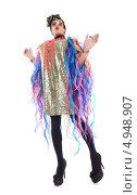 Купить «Актер травести в образе гламурной модницы», фото № 4948907, снято 11 августа 2013 г. (c) Discovod / Фотобанк Лори