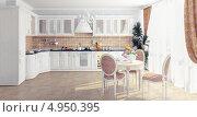 Купить «Интерьер белой кухни», иллюстрация № 4950395 (c) Виктор Застольский / Фотобанк Лори