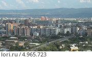 Купить «Город Красноярск. Вид с Караульной сопки», видеоролик № 4965723, снято 14 августа 2013 г. (c) Ирина Егорова / Фотобанк Лори
