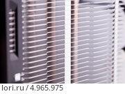 Купить «Фрагмент вентилятора компьютера», фото № 4965975, снято 3 августа 2013 г. (c) Стебловский Александр / Фотобанк Лори