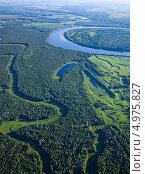 Купить «Пойма лесной реки летом», фото № 4975827, снято 16 августа 2013 г. (c) Владимир Мельников / Фотобанк Лори
