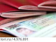 Купить «Страница паспорта с Шенгенской визой», фото № 4976891, снято 8 февраля 2013 г. (c) Яков Филимонов / Фотобанк Лори