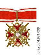 Орден Святого Станислава III степени. Стоковое фото, фотограф Nikolay Sukhorukov / Фотобанк Лори