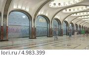 Купить «Станция метро Маяковская в Москве, таймлапс», видеоролик № 4983399, снято 21 августа 2013 г. (c) Кирилл Трифонов / Фотобанк Лори