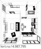 Купить «Планировка квартиры», иллюстрация № 4987795 (c) Кирилл Черезов / Фотобанк Лори