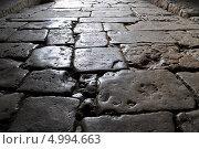 Купить «Старая мощеная мостовая», фото № 4994663, снято 13 мая 2013 г. (c) Евгений Суворов / Фотобанк Лори