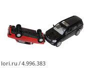Авария игрушечных автомобилей. ДТП (2013 год). Редакционное фото, фотограф Юрий Морозов / Фотобанк Лори