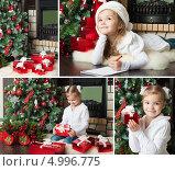 Купить «Мечты о новогодних подарках. Девочка пишет письмо Деду Морозу», фото № 4996775, снято 19 ноября 2019 г. (c) Оксана Гильман / Фотобанк Лори