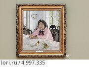 Купить «Третьяковская галерея, картина В.Серова», эксклюзивное фото № 4997335, снято 4 августа 2013 г. (c) Дмитрий Неумоин / Фотобанк Лори