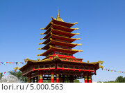Пагода семи дней. Элиста. Калмыкия, фото № 5000563, снято 1 июля 2013 г. (c) Евгений Ткачёв / Фотобанк Лори