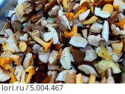 Резанные свежие грибы. Стоковое фото, фотограф Вакулин Сергей / Фотобанк Лори