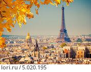 Купить «Вид на Эйфелеву башню, Париж, Франция», фото № 5020195, снято 23 февраля 2019 г. (c) Sergey Borisov / Фотобанк Лори