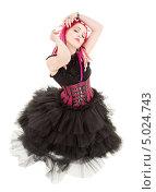 Купить «Юная девушка в пышном платье с розовыми длинными дредами», фото № 5024743, снято 15 ноября 2008 г. (c) Syda Productions / Фотобанк Лори
