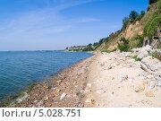 Купить «Берег Азовского моря в Таганроге», фото № 5028751, снято 24 августа 2013 г. (c) Борис Панасюк / Фотобанк Лори