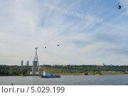 Нижний Новгород, вид на канатную дорогу с Волги (2013 год). Стоковое фото, фотограф Валерий Овчинников / Фотобанк Лори