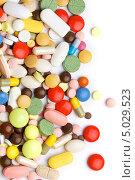 Разноцветные таблетки и капсулы. Стоковое фото, фотограф Наталья Алексахина / Фотобанк Лори
