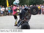 Купить «Фома Калинин на квадроцикле», фото № 5033603, снято 10 августа 2013 г. (c) Николай Мухорин / Фотобанк Лори