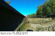 Купить «Проезжающий поезд», видеоролик № 5052611, снято 14 сентября 2013 г. (c) Михаил / Фотобанк Лори