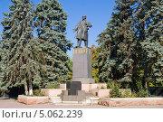 Купить «Памятник Ленину между елями в Ростове-на-дону», фото № 5062239, снято 14 сентября 2013 г. (c) Борис Панасюк / Фотобанк Лори