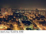 "Купить «Вид с ЖК ""Олимп"", красная луна над городом», фото № 5073199, снято 12 сентября 2013 г. (c) Kremchik / Фотобанк Лори"