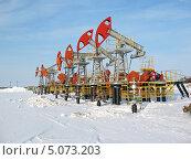 Нефтяные качалки в зимнее время. Стоковое фото, фотограф Георгий Shpade / Фотобанк Лори