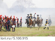 Купить «Малоярославецкое сражение, историческая реконструкция», эксклюзивное фото № 5100915, снято 21 октября 2012 г. (c) stargal / Фотобанк Лори