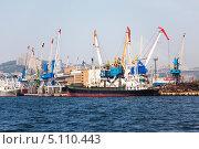 Купить «Владивосток. Грузовой порт», фото № 5110443, снято 20 сентября 2013 г. (c) Наталья Волкова / Фотобанк Лори