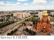 Купить «Знаменский кафедральный собор в городе Кемерово», фото № 5118555, снято 6 сентября 2013 г. (c) Константин Челомбитко / Фотобанк Лори
