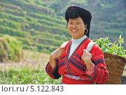 Купить «Женщина китайского народа Яо», фото № 5122843, снято 1 мая 2013 г. (c) Дмитрий Калиновский / Фотобанк Лори