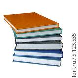 Купить «Стопка книг на изолированном фоне», фото № 5123535, снято 25 сентября 2013 г. (c) Валентина Троль / Фотобанк Лори
