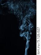 Синий дым на черном фоне. Стоковое фото, фотограф Фесенко Сергей / Фотобанк Лори
