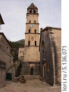 Башня в старом городе. Черногория. Стоковое фото, фотограф Vitaly  Chizh / Фотобанк Лори