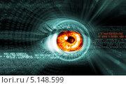 Купить «хай-тек фон с человеческим глазом», фото № 5148599, снято 26 мая 2019 г. (c) Sergey Nivens / Фотобанк Лори