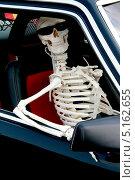 Скелет сидит в машине. Стоковое фото, фотограф Natalia Arsenteva / Фотобанк Лори