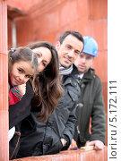 Купить «Семья и их новый дом», фото № 5172111, снято 21 января 2010 г. (c) Phovoir Images / Фотобанк Лори