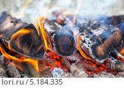 Дрова горят в огне. Стоковое фото, фотограф FotograFF / Фотобанк Лори