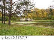 Купить «Осень в Павловске. Висконтиев мост.», фото № 5187747, снято 6 октября 2013 г. (c) Сергей Буймер / Фотобанк Лори