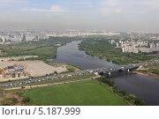 Мост МКАД 19-го километра через Москву-реку (2013 год). Редакционное фото, фотограф Михеев Алексей / Фотобанк Лори