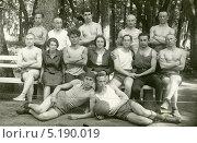 Купить «Фото футбольной команды (1932)», эксклюзивное фото № 5190019, снято 26 мая 2019 г. (c) Михаил Ворожцов / Фотобанк Лори