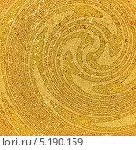 Купить «Золотистый фон с концентрическими разводами», иллюстрация № 5190159 (c) Елена Арсентьева / Фотобанк Лори
