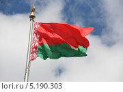 Купить «Белорусский государственный флаг», фото № 5190303, снято 18 июля 2013 г. (c) Марина Шатерова / Фотобанк Лори