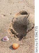 След на песке. Стоковое фото, фотограф Коптева Зоя / Фотобанк Лори