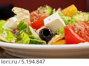 Купить «Греческий салат», фото № 5194847, снято 14 декабря 2012 г. (c) Jan Jack Russo Media / Фотобанк Лори