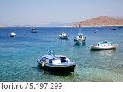 Бухта с лодками в Средиземном море (2013 год). Стоковое фото, фотограф Наталья Наточина / Фотобанк Лори