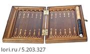 Купить «Доска для игры в нарды», фото № 5203327, снято 22 октября 2013 г. (c) Parmenov Pavel / Фотобанк Лори