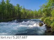 Купить «Бурятия. Река Жомболок», фото № 5207687, снято 8 августа 2012 г. (c) Сергей Рыбин / Фотобанк Лори
